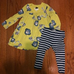 Tea dress and leggings 18-24mos